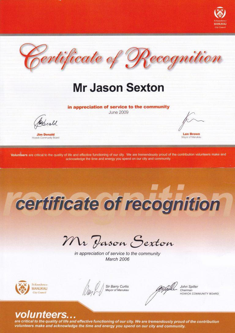 Community Service Civil Defence Awards
