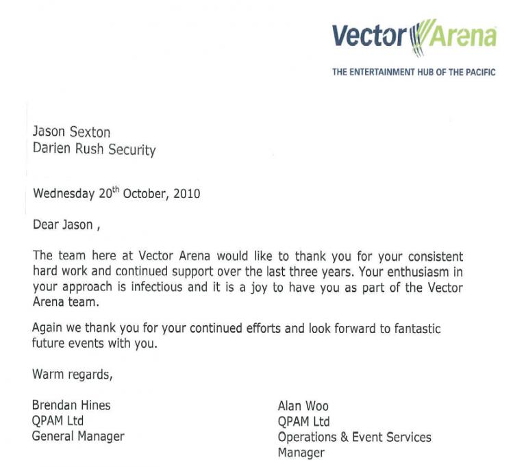 Vector Arena Thank you