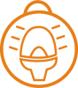 Icon of flashing safety light