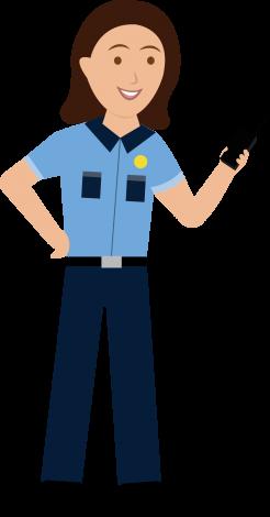 Character of guard on radio